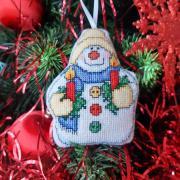 vyšívana vianočná ozdoba