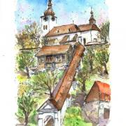 Špania dolina - kostol