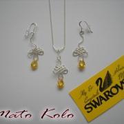 strieborné šperky & swarovski kryštály