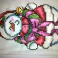 vianočný snehuliak