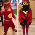 Karnevalové masky Flash a Ninjago
