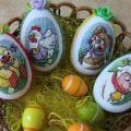 vyšívané veľkonočné vajíčka