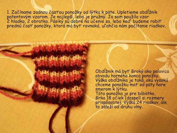 ponožky pletené na dvoch ihliciach 1