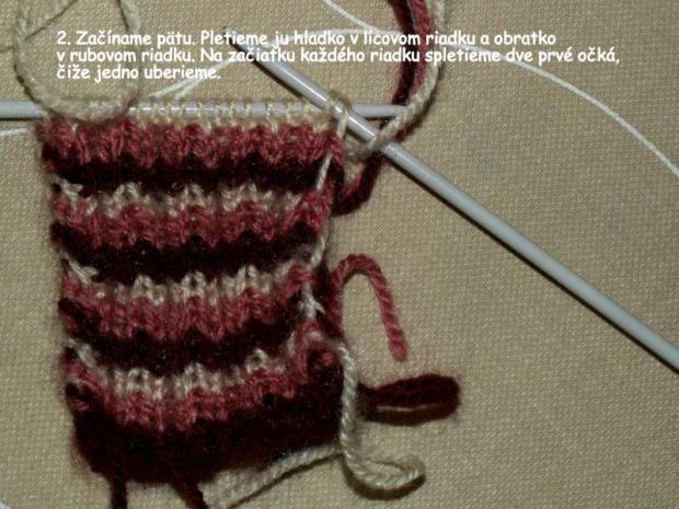 ponožky pletené na dvoch ihliciach 2
