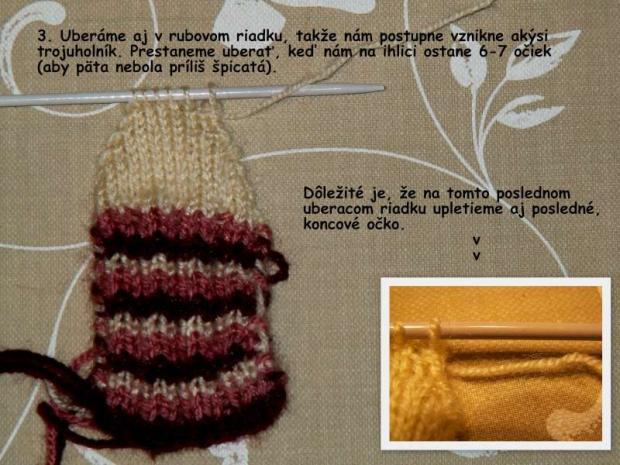 ponožky pletené na dvoch ihliciach 3