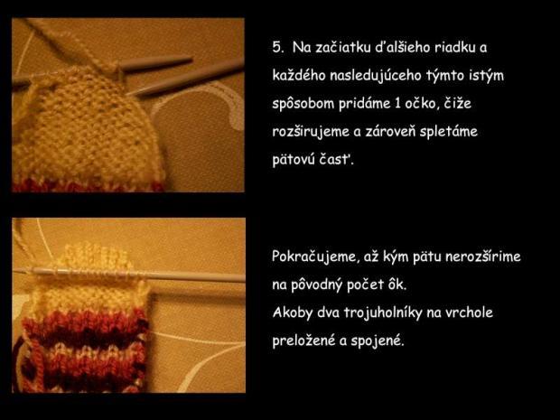 ponožky pletené na dvoch ihliciach 5