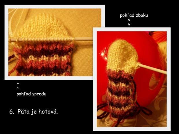 ponožky pletené na dvoch ihliciach 6