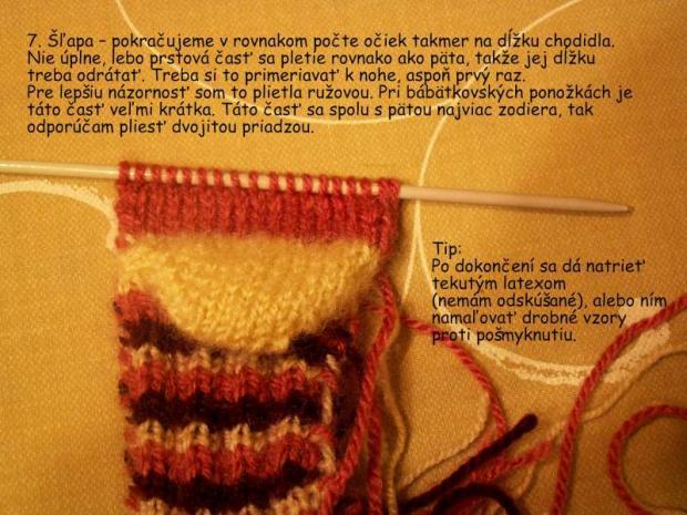 ponožky pletené na dvoch ihliciach 7