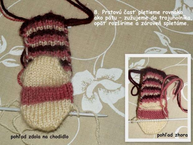 ponožky pletené na dvoch ihliciach 8