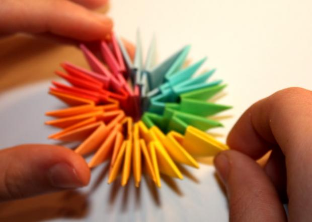 Fotopostup na 3D origami vajíčko 10
