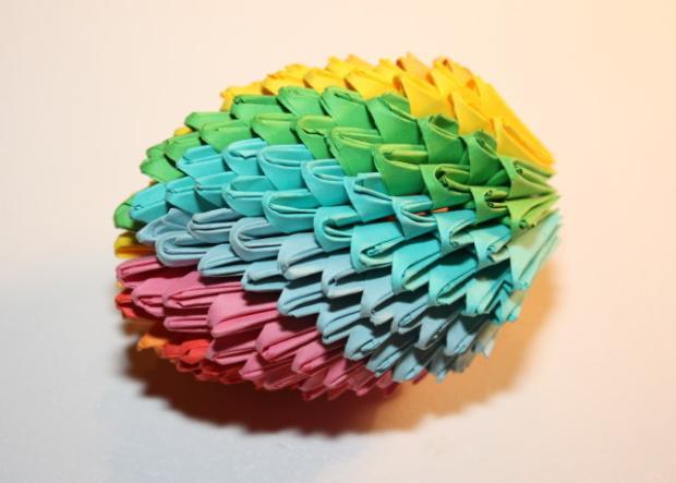 Fotopostup na 3D origami vajíčko 18
