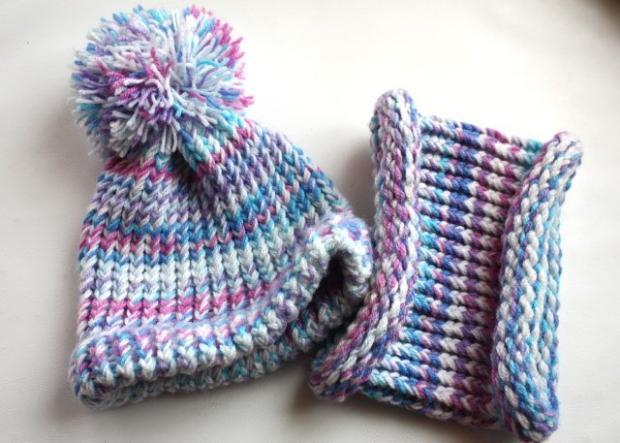 Postup na pletenú čiapku inak - foto postup