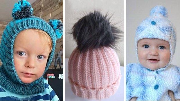 Postupy na háčkované a pletené čiapky pre bábätká a malé deti