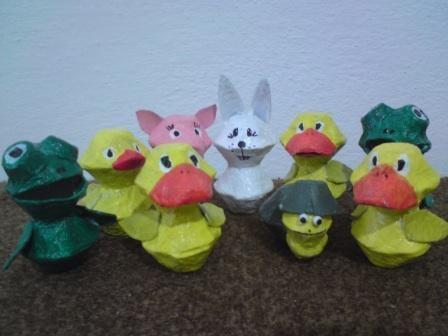 zvieratká z obalov na vajíčka - foto postup