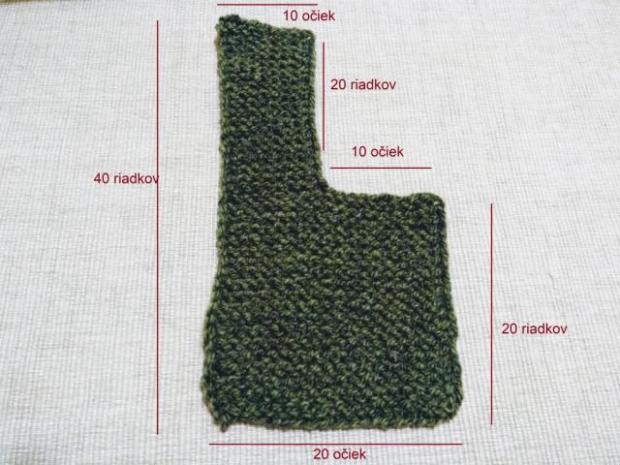 Najjednoduchšie pletené papučky pre bábätko 1