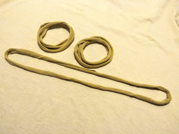 Náhrdelník alebo čelenka zo starého trička 2