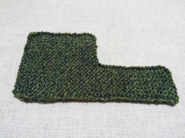 Najjednoduchšie pletené papučky pre bábätko 2