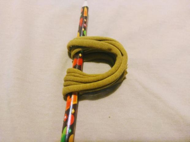 Náhrdelník alebo čelenka zo starého trička 4