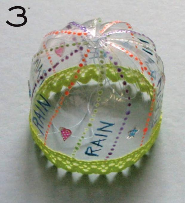 Dáždnik z PET fľaše pre bábiku 4