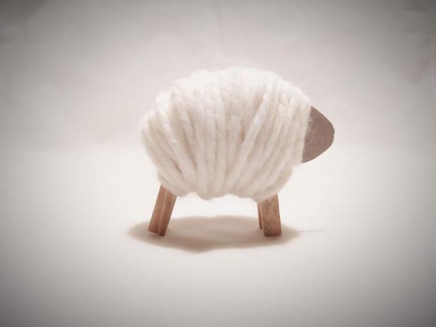 Ovečka - jarná dekorácia pre deti 6