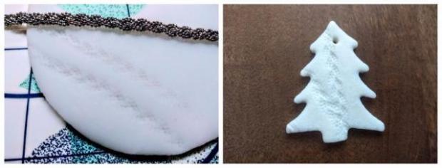 Postup na vianočné ozdoby na stromček zo studeného porcelánu 7