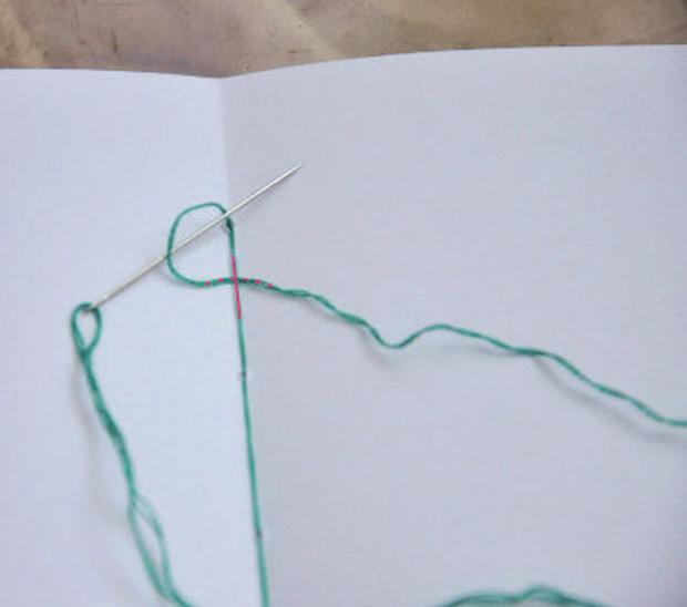 Postup na šitý zápisník 8