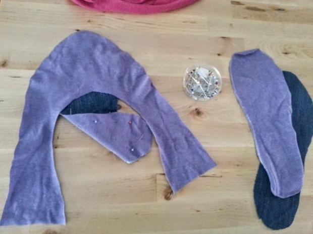Ako ušiť papuče zo starých tričiek a riflí 8