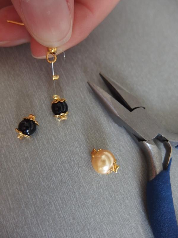 Jednoduchý náhrdelník a ušničky  15