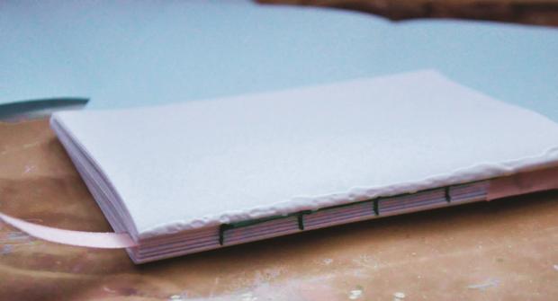 Postup na šitý zápisník 20