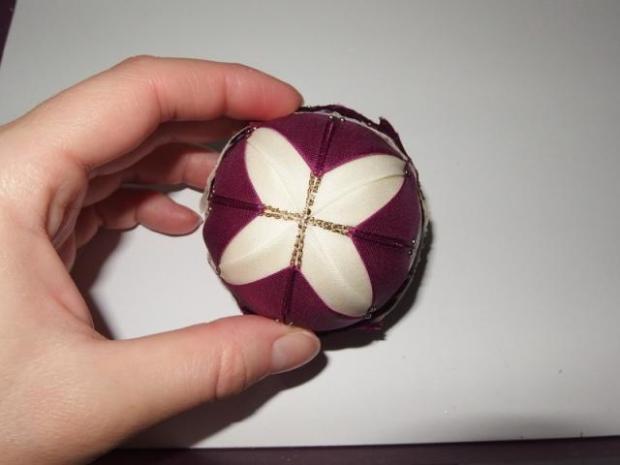 falošný patchwork vianočné gule-špirála 12