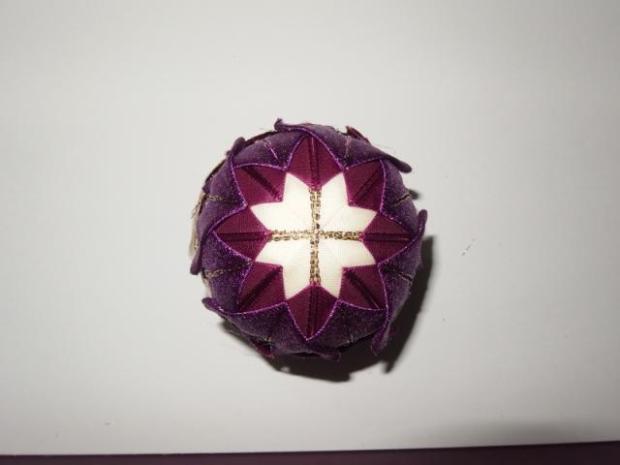 falošný patchwork vianočné gule-špirála 14