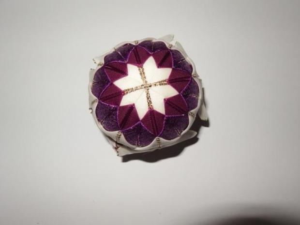 falošný patchwork vianočné gule-špirála 15