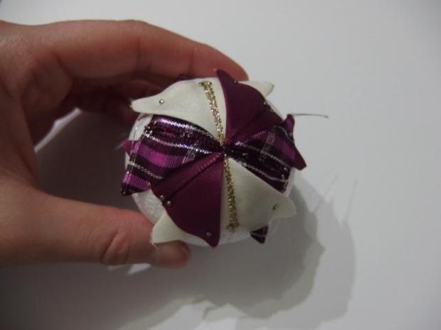 falošný patchwork vianočné gule-špirála 1