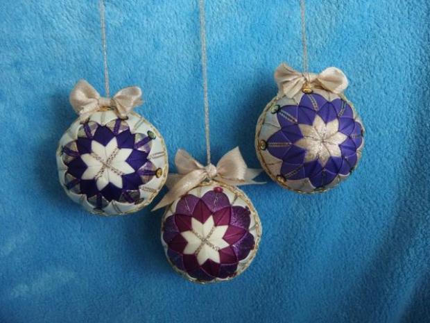 falošný patchwork vianočné gule-špirála 21