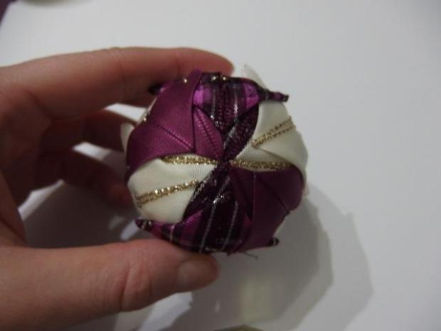 falošný patchwork vianočné gule-špirála 3