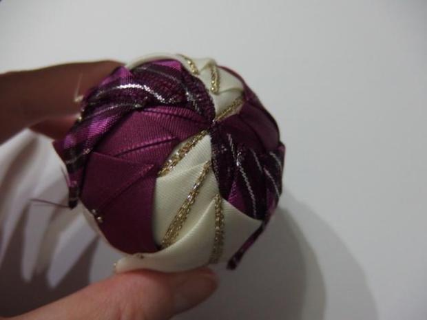 falošný patchwork vianočné gule-špirála 4