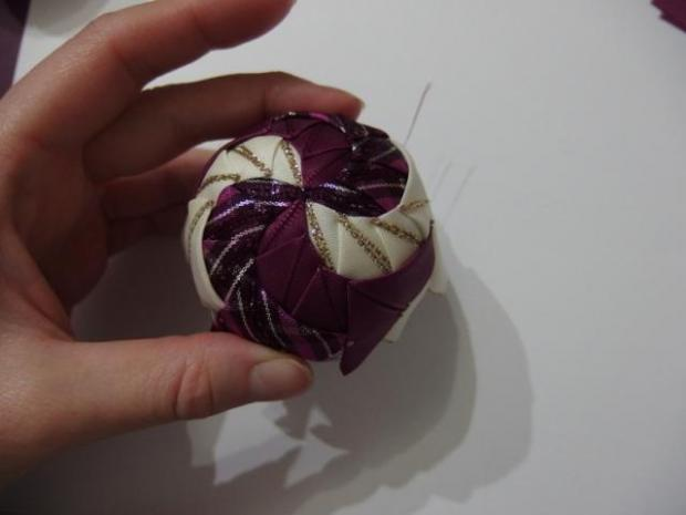 falošný patchwork vianočné gule-špirála 5