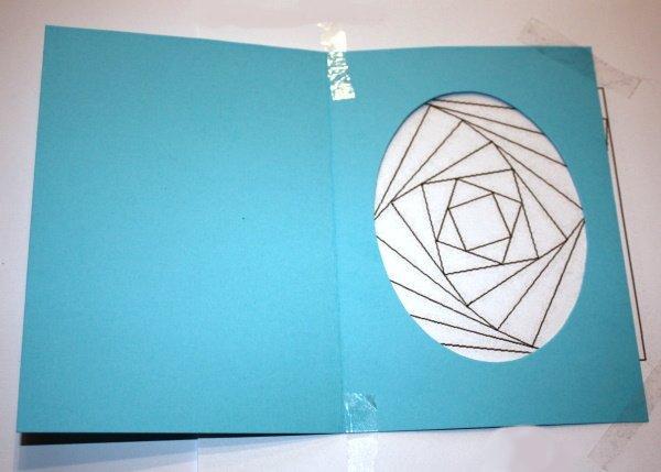 Postup na Iris folding - vajíčko 6