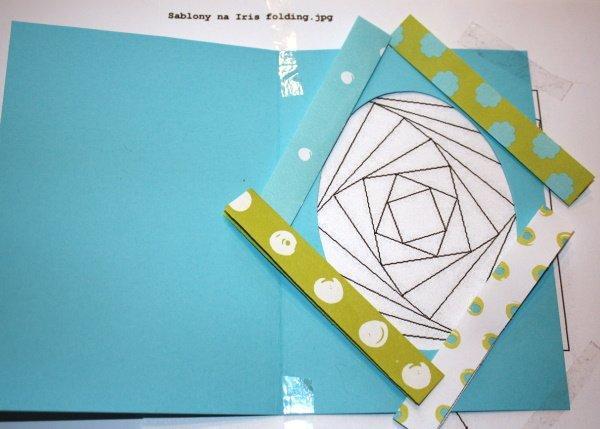 Postup na Iris folding - vajíčko 7