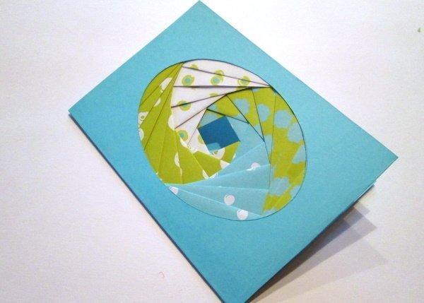 Postup na Iris folding - vajíčko 18