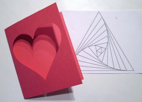 Fotopostup na Iris folding - srdce 3