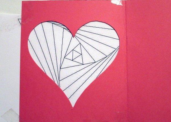 Fotopostup na Iris folding - srdce 4
