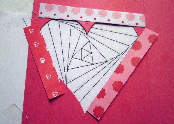 Fotopostup na Iris folding - srdce 5