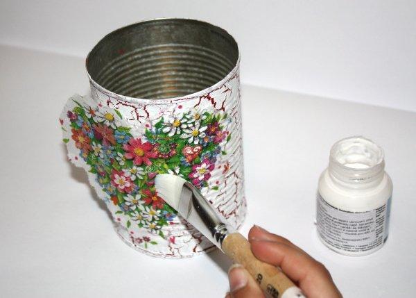 Mini darček - postup na servítkovú techniku a krakel 10