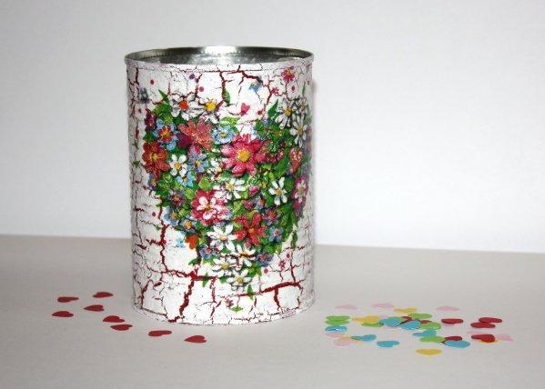 Mini darček - postup na servítkovú techniku a krakel 1