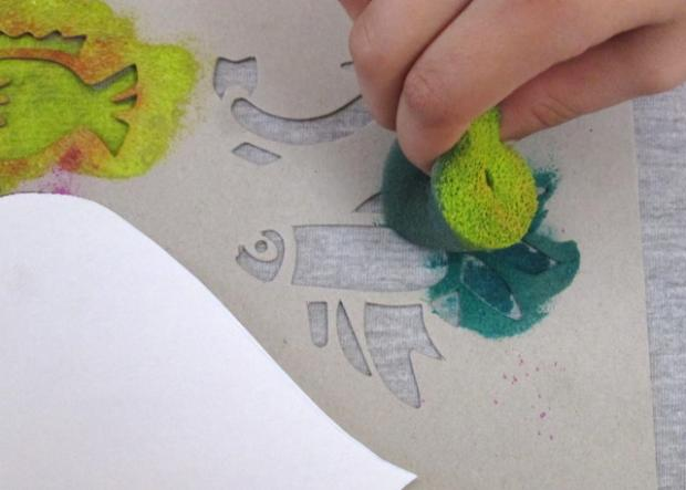 Maľujeme na textil s deťmi 11