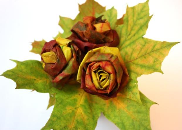 Fotopostup na ruže z javorového lístia 21