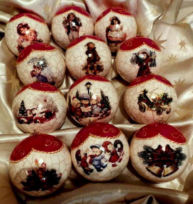 Porcelánové vianočné gule 8