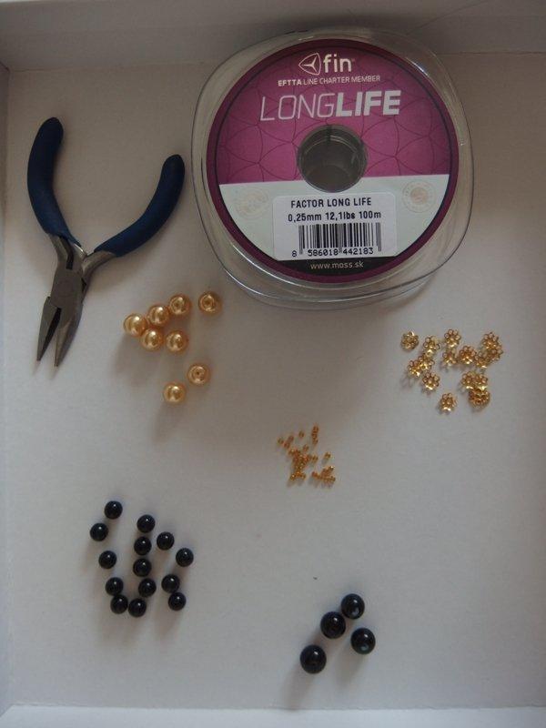 Jednoduchý náhrdelník a ušničky  5