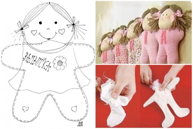 Jednoduchá šitá bábika, návod, otigo
